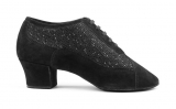 PortDance PD701 Fashion Latein black Nubuck /Glitzer, Nubuk-Sohle